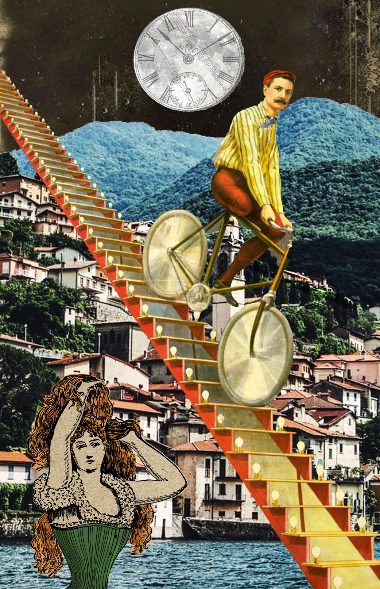 collage stairway